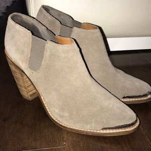 Dolce Vita Taupe Suede Booties